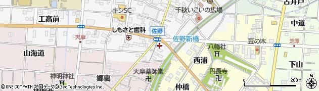 満里周辺の地図