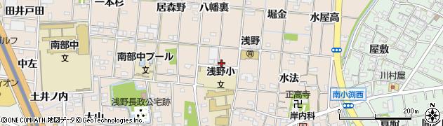 愛知県一宮市浅野(佐五山)周辺の地図
