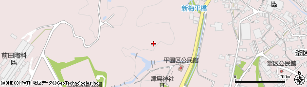 岐阜県多治見市笠原町(平園区)周辺の地図