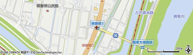 横曽根町3周辺の地図