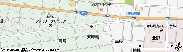 愛知県一宮市南小渕(天摩島)周辺の地図