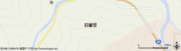 鳥取県若桜町(八頭郡)岩屋堂周辺の地図