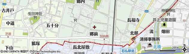 愛知県一宮市千秋町加納馬場(郷前)周辺の地図
