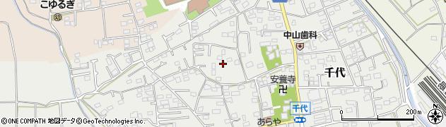 神奈川県小田原市千代周辺の地図