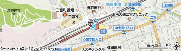 神奈川県中郡二宮町周辺の地図