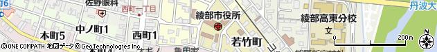 京都府綾部市周辺の地図