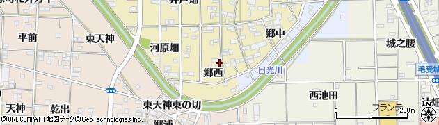 愛知県一宮市大和町福森(郷西)周辺の地図