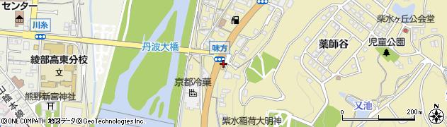 京都府綾部市味方町(久保勝)周辺の地図