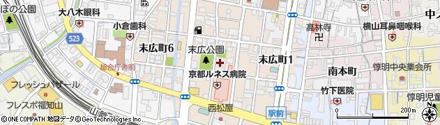 京都府福知山市末広町周辺の地図