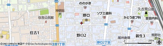 愛知県一宮市野口周辺の地図