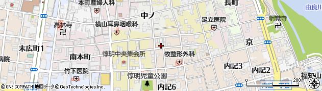 京都府福知山市内記(6丁目北)周辺の地図