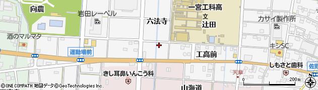 愛知県一宮市千秋町佐野(六法寺)周辺の地図