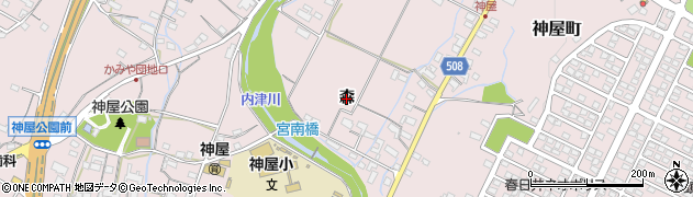 愛知県春日井市神屋町(森)周辺の地図