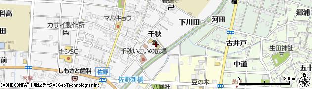 愛知県一宮市千秋町佐野(下川田)周辺の地図