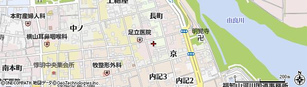 京都府福知山市西長町周辺の地図