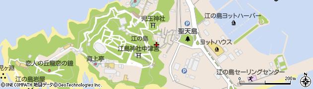 神奈川県藤沢市江の島周辺の地図