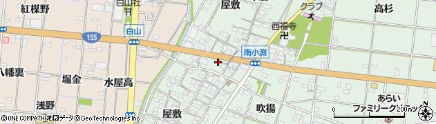 愛知県一宮市南小渕(屋敷)周辺の地図