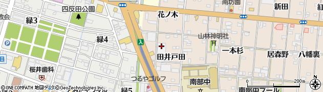 愛知県一宮市浅野(田井戸田)周辺の地図