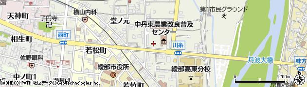 京都府綾部市川糸町(丁畠)周辺の地図