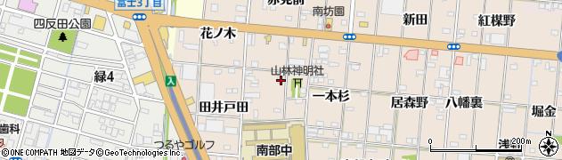 愛知県一宮市浅野(山林)周辺の地図