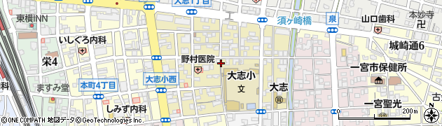 愛知県一宮市大志周辺の地図