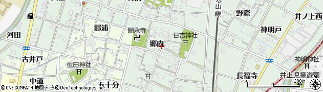 愛知県一宮市千秋町加納馬場(郷内)周辺の地図