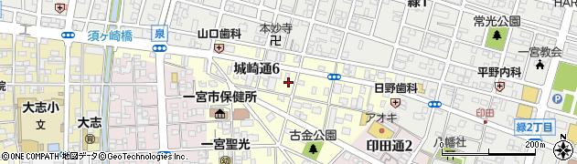 愛知県一宮市城崎通周辺の地図
