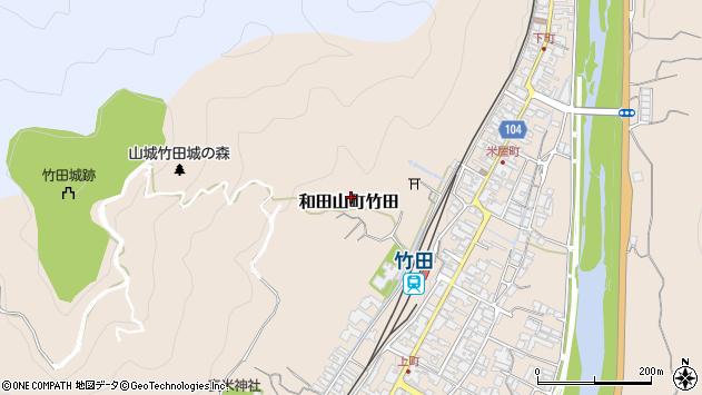 〒669-5252 兵庫県朝来市和田山町竹田の地図