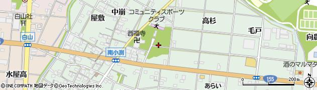 愛知県一宮市南小渕周辺の地図
