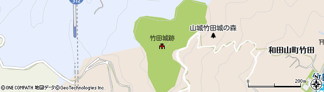 竹田城跡周辺の地図