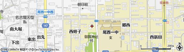 愛知県一宮市三条(宮西)周辺の地図