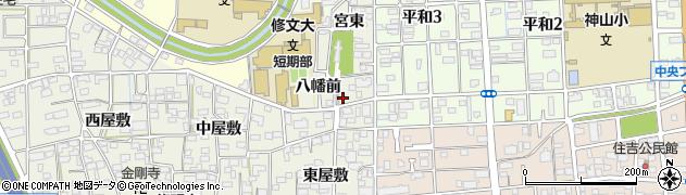 愛知県一宮市大和町毛受(八幡前)周辺の地図
