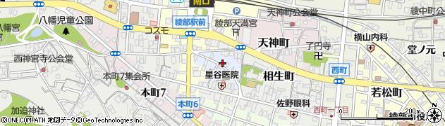 京都府綾部市西新町周辺の地図