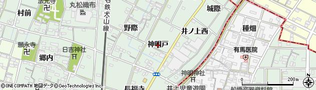 愛知県一宮市千秋町加納馬場(神明戸)周辺の地図