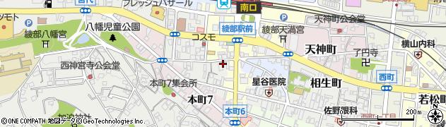 京都府綾部市幸通(西馬場)周辺の地図