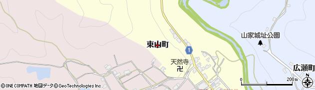 京都府綾部市東山町周辺の地図