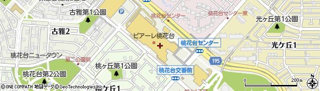 風まつりアピタ桃花台店周辺の地図