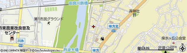 京都府綾部市味方町(舟ノ上)周辺の地図