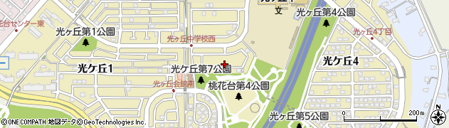 愛知県小牧市光ケ丘周辺の地図