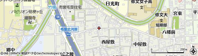 愛知県一宮市大和町毛受周辺の地図