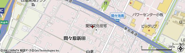 愛知県小牧市間々原新田周辺の地図