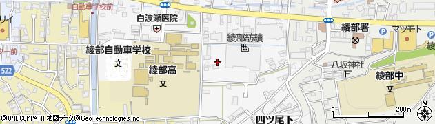京都府綾部市岡町周辺の地図