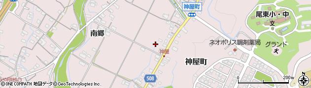 愛知県春日井市神屋町(南海道)周辺の地図