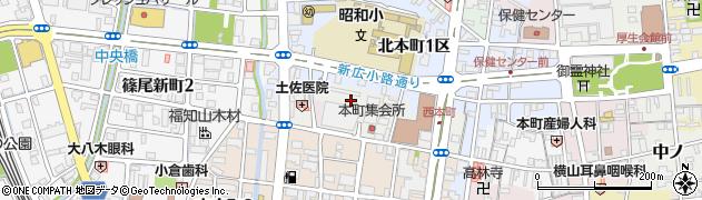 京都府福知山市西本町周辺の地図