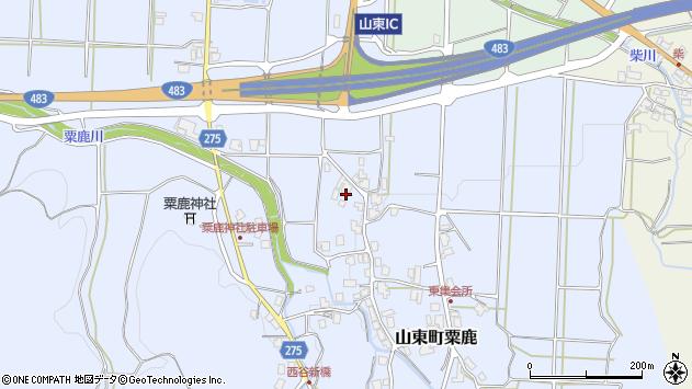 〒669-5125 兵庫県朝来市山東町粟鹿の地図