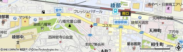 京都府綾部市幸通(東石ケ坪)周辺の地図