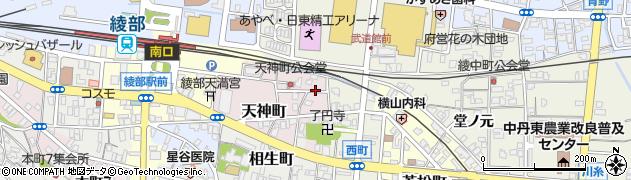 京都府綾部市天神町(南大坪)周辺の地図