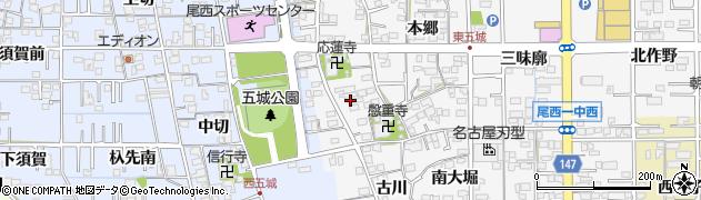 愛知県一宮市東五城(寺廓)周辺の地図