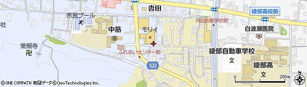 京都府綾部市大島町(大籔)周辺の地図