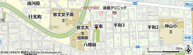 愛知県一宮市大和町毛受(宮東)周辺の地図
